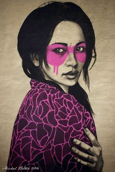 Pink black art