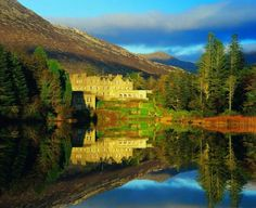 Ballynahinch castle, County Galway. Relax by a warm fire in an awe-inspiring castle, get acquainted with the locals and cozy up in a pub to hear the stories of Irish past and present.