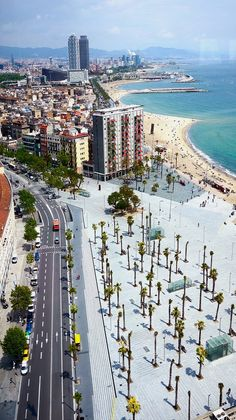 Barcelona, Spain. Remember walking on the concrete where all the palm trees stood. Summer 2013 was awesome!