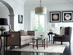 Stickley Fine Upholstery & Leather Collection - transitional - living room - other metro - Stickley Furniture