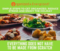 If you are hosting the holiday meal this year, don't feel obligated to cook everything from scratch.