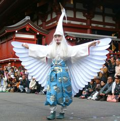 """In Japan, the white heron is deemed unique for its ability to move between three elements: air, earth, and water. Locals herald the graceful white bird as a symbol of good luck. Shirasagi-no Mai, which translates to """"White Heron Dance,"""" is a millennium-old Japanese dance."""