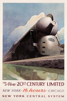 New York to Chicago in 16 hours.  In 1971 the famed 20th Century Limited completed its final run after 65 years.