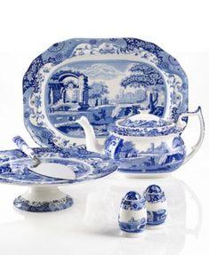 Spode Blue Italian Collection | Spode Serveware, Blue Italian Collection