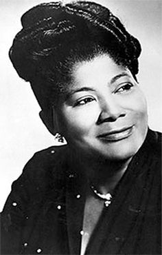 "Mahalia Jackson, gospel singer. Possessing a powerful contralto voice, she is known as ""The Queen of Gospel"". She also became one of the most influential gospel singers in the world and was heralded internationally as a singer and civil rights activist. The National Academy of Recording Arts & Sciences created the Gospel Music or Other Religious Recording category for her, making her the 1st Gospel Music Artist to win the prestigious Grammy Award. R.I.P."