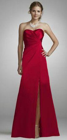 Davids Bridal Bridesmaid Dresses One Shoulder Stretch Satin Short ...