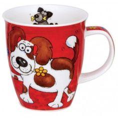 Crazy Gang Dog Nevis shape Mug