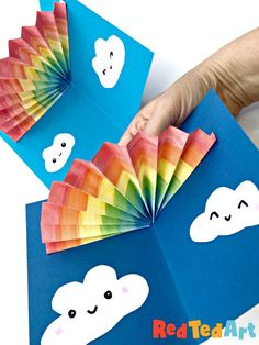 How to Make an Easy Pop Up Rainbow Card - Red Ted Art - Kids Crafts