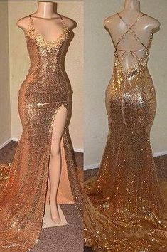 Looking for plus size prom dresses in Sequined Mermaid Sleeveless styles, and hope to custom made prom dresses in affordable price? Newarrivaldress covers all on this elegant Shiny Gold Sequins Prom Dresses Cheap Black Girl Prom Dresses, Sequin Prom Dresses, Cute Prom Dresses, Prom Outfits, Plus Size Prom Dresses, Mermaid Dresses, Ball Dresses, Cheap Dresses, Elegant Dresses