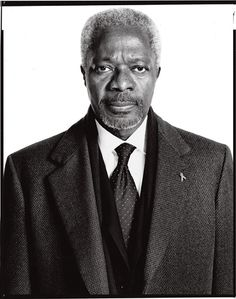 Former Secretary General of the United Nations, Nobel Peace Prize recipient for founding the Global AIDS and Health fund. All around a genuinely interesting human being who we should all take notes from. Kofi Annan by Richard Avedon Richard Avedon Portraits, Richard Avedon Photography, Best Fashion Photographers, Portrait Photographers, Ghana, New York January, January 9, Kofi Annan, Lauren Hutton