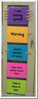 Classroom Management Plan - I like this system for a classroom.. hmm.. if I had to homeschool, I wonder if there is something similar that would work well with this...