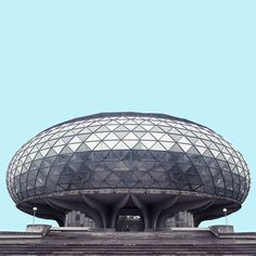 Commercial photographer Mirko Nahmijas has been taking photos of the mid-20th century Brutalist architecture in Belgrade, Serbia. And these buildings look like long-abandoned crashed spaceships or relics from a forgotten future.