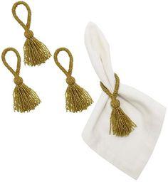 Beaded Tassel Napkin Rings - Set of 4 - Napkin Rings | HomeDecorators.com