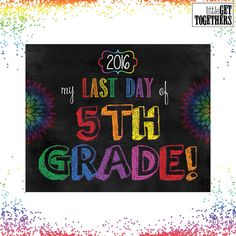 Last Day Of School Sign Photo Picture Print - End of School Sign - 8x10 Sign…