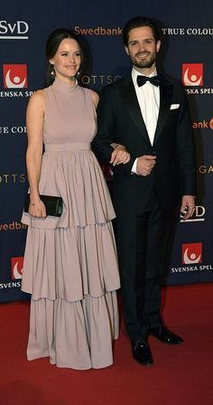 Prince Carl Philip and Princess Sofia attended the Swedish Sports Gala at Ericsson Globe Arena in Stockholm