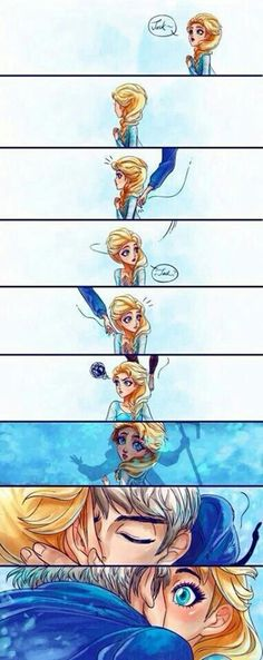 Jack frost and Elsa...they are so cute it hurts!!