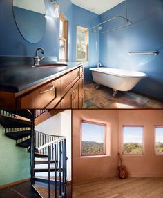 Squire Canyon straw bale home interior details