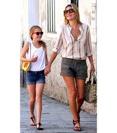 Get Her Look:  Modcloth Saunter in the Sand Sandals ($30); Current/Eliott Pajama Stripe Prep School Shirt ($127); Rag & Bone Ollie Shorts ($154).