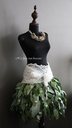 My homemade dress form eucalyptus skirt.