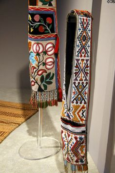 Ojibwa beaded bandolier bag (1880-90s)