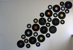 Vinyl record as wall decoration.  Did it myself!