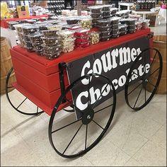 Gourmet Chocolate Chuck-Wagon Display Chuck Wagon, Candy, Chocolate, Gourmet, Sweets, Schokolade, Chocolates, Candy Bars