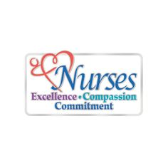 Nurses Excellence Compassion Commitment Lapel Pin With Card | SAVE 10% ...