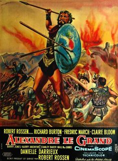 Alexander the Great (French) Movie Poster Movie Pic, Epic Movie, Love Movie, Stanley Baker, Alexander The Great, French Movies, Old Movies, Love Posters, Film Posters
