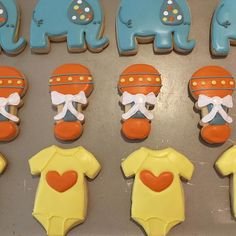 Baby Shower Royal Icing Cookies by @cookiesbykatewi