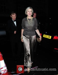 Theresa May in Central London at London 22nd September 2015