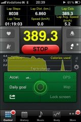 The Pedometer app is neat.. check it out @appstore..