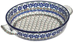 New Polish Pottery BAKER LARGE ROUND Boleslawiec CA Pattern 854a Euro Stoneware * Learn more by visiting the image link.(This is an Amazon affiliate link)