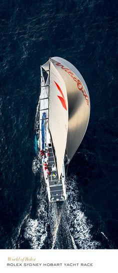 Class Winner Wild Oats in the 2013 Rolex Sydney Hobart Yacht Race. #Yachting #RolexOfficial