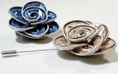Jewelry made of coffee capsules - creative ways to recycle - Making Furniture yourself DIY Ways To Recycle, Icing, Jewelry Making, Diys, Anna, Recycling, Totes, Home Made, Noel