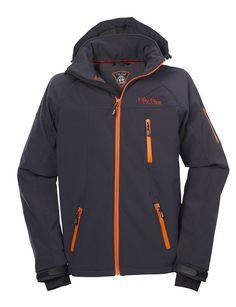 Softshell-Jacke Outdoor-Jacken Herren von Fifty Five - Alert - navy/orange 3XL - Funktionsjacke mit abtrennbarer Kapuze