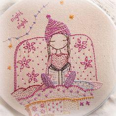 embroidery - backstitch hat