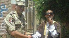 صورة شبيه السادات يدلي بصوته في انتخابات الرئاسة 2014 | معلومات اليوم السابع