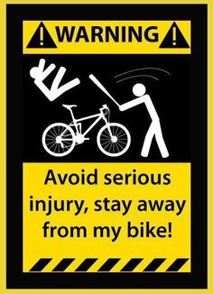 www.3LC.tv - FUNNY PIC: Message to all potential bike thieves....