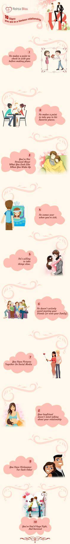 Infographic: 10 Signs You Are In A Serious Relationship - DesignTAXI.com