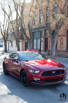 Red 2015 Ford Mustang. Dream car 2.