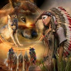 Diy Diamond Painting Mosaic Cross Stitch Drill Indian wolf Home Decor Diamond Embroidery animal wall sticker. American Indian Girl, Native American Wolf, American Indian Tattoos, Native American Pictures, Native American Artwork, Native American Quotes, Native American Symbols, Native American Beauty, Native American History