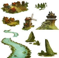 Town Background-Boh on Behance