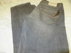 FIVE FOUR JEANS MAGELLAN Gray 36 x 34 STRAIGHT Distress Flap Pockets NEW #FIVEFOUR #STRAIGHTLEG