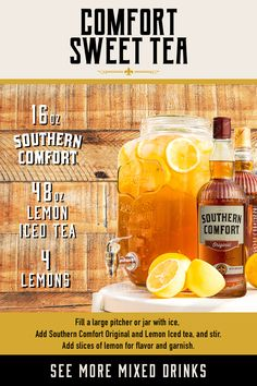 Lemon Filling, Southern Comfort, Sweet Tea, Iced Tea, Mixed Drinks, Ads, The Originals, Blended Drinks