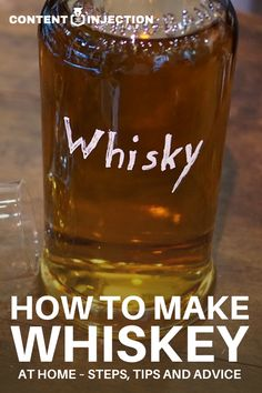 Want to learn how to make your own whiskey at home? Well, you have come to the right place. Here we'll reveal an easy whiskey recipe and important advice to know about making it. Check it out! Whiskey Recipes, Alcohol Drink Recipes, Whiskey Drinks, Scotch Whiskey, Whiskey Cake, Whiskey Girl, Beer Recipes, Irish Whiskey, Bourbon Whiskey