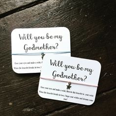 Will you be my godmother, godmother proposal, godmother gift