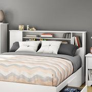 Queen Size Bookcase Headboard : Headboards
