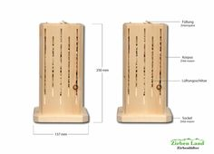 Zirbenholz Lüfter aus Zirbe