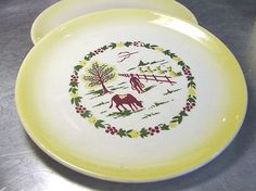 Its a Sunny Day at the Breakfast Table with this Vintage Country Charm GRANT CREST LOT  by ShantyIrishStockyard, $24.50