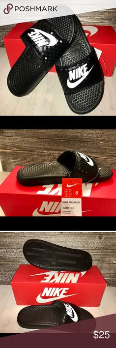 NWT !!!! NIKE BENASSI JDI SLIDES !!! NWT !!!!  Comfortable and durable BENNASSI JDI womens slides. Fits true to size.  SIZE:8 Nike Shoes Sandals